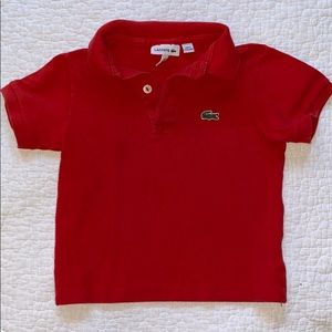 Lacoste Red SS Polo